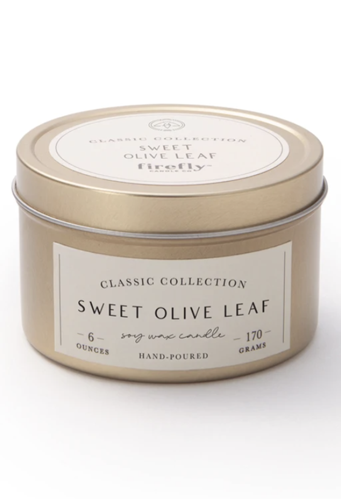 Sweet Olive Leaf 6 oz. Soy Candle Travel Tin