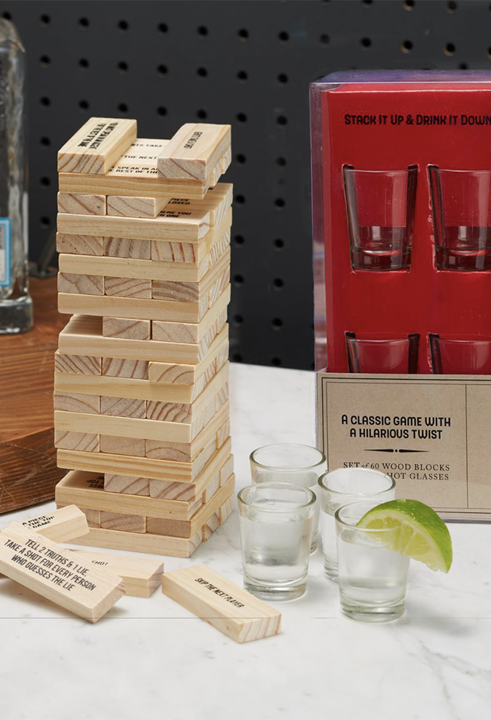 Stumbling Blocks w/ Shot Glasses