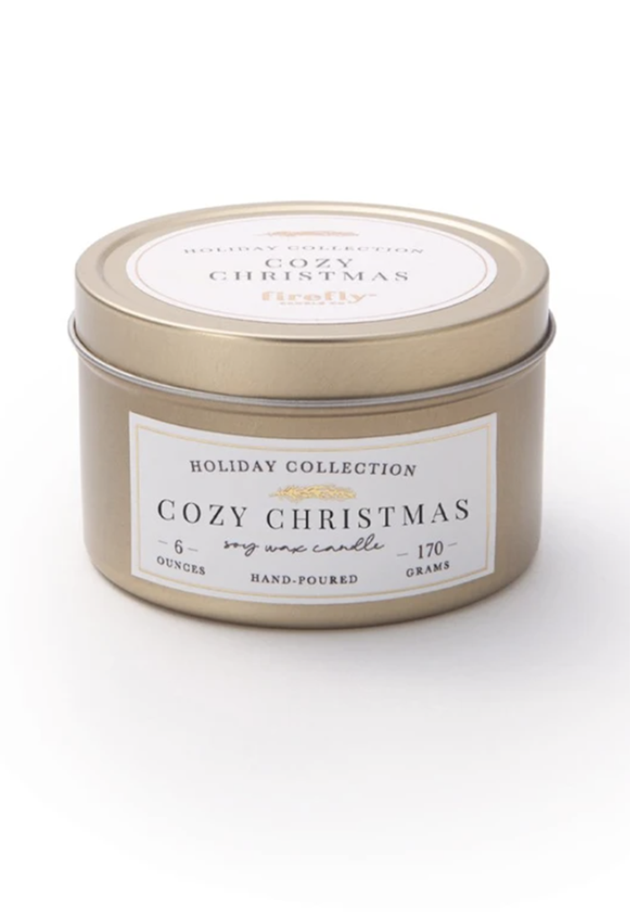 Cozy Christmas 6 oz. Soy Candle Travel Tin
