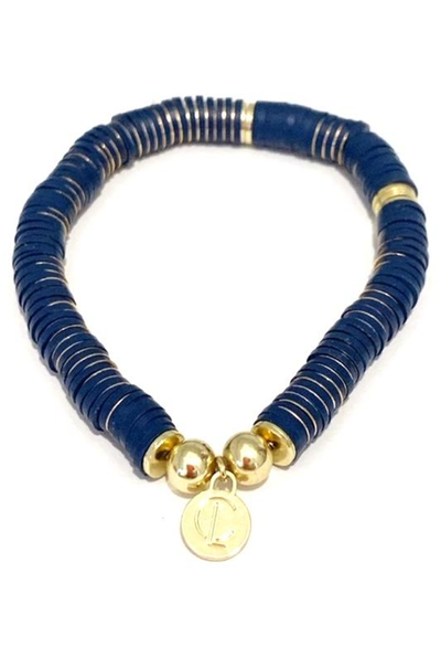 CL Seaside Wide Disc Bracelet, Navy