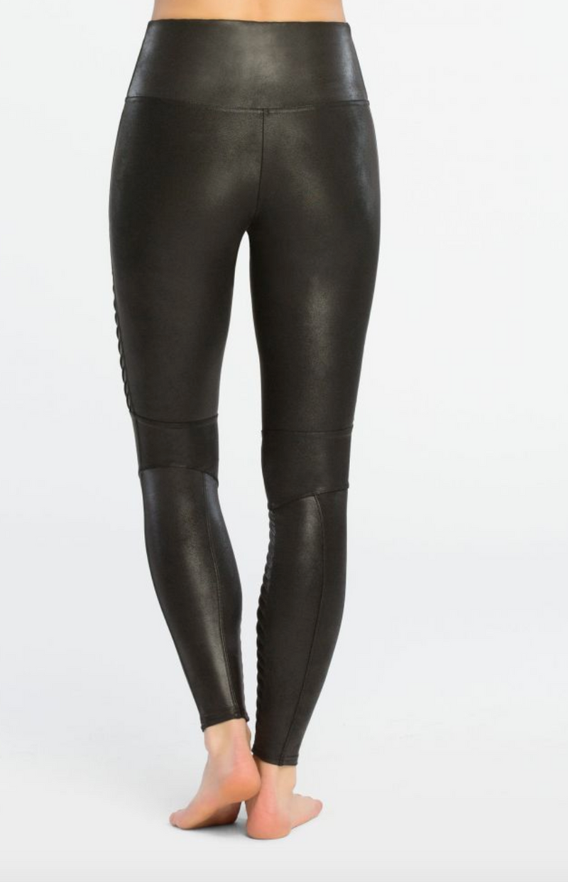 Spanx Faux Leather Moto Legging