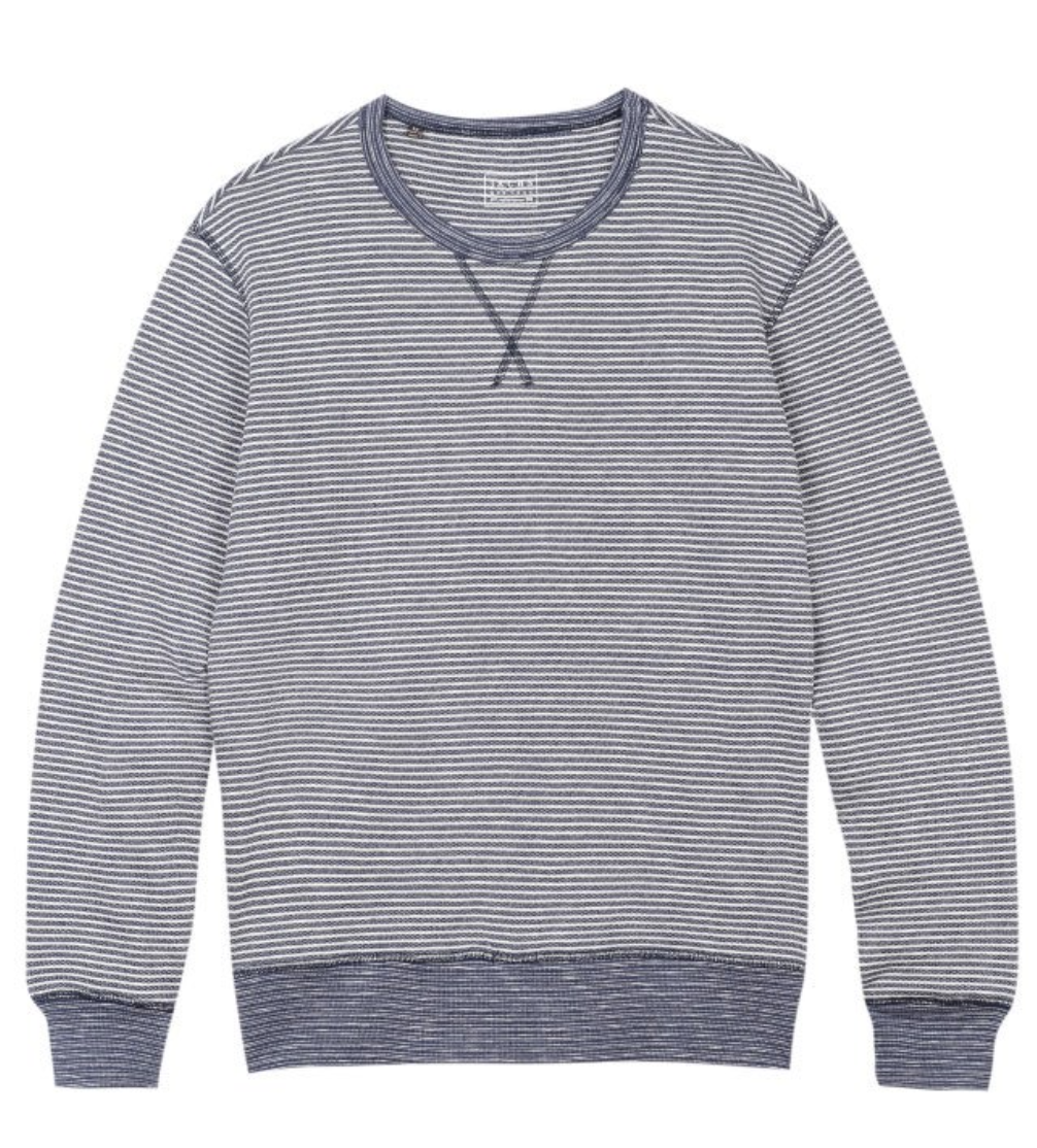 Striped Fleece Crewneck