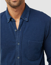 Faherty Indigo Knit Pacific Shirt - RUST & Co.