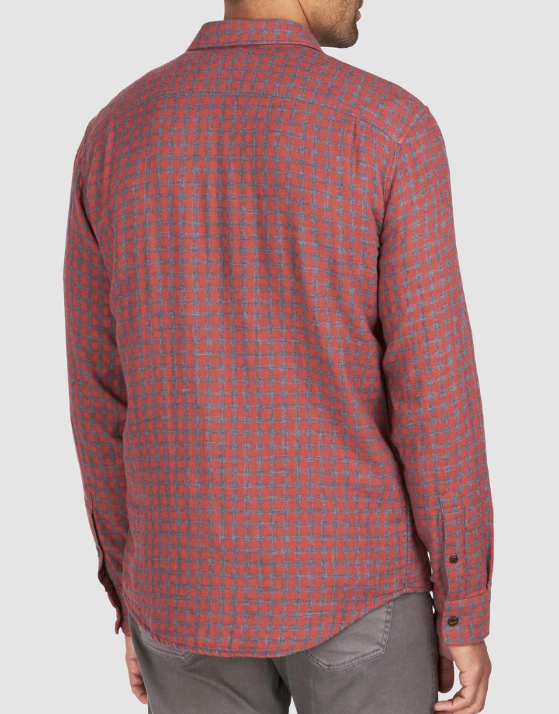 Faherty Doublecloth Belmar Shirt - RUST & Co.