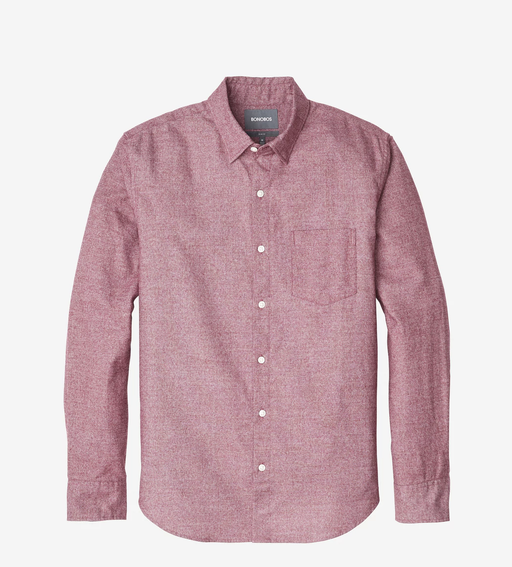 Bonobos Brushed Button Down Slim - RUST & Co.