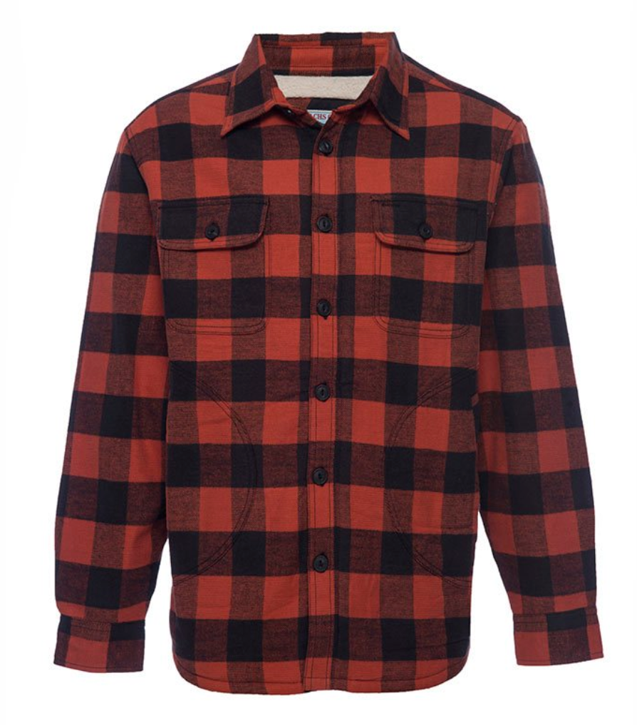 Buffalo Check Shirt Jacket - RUST & Co.