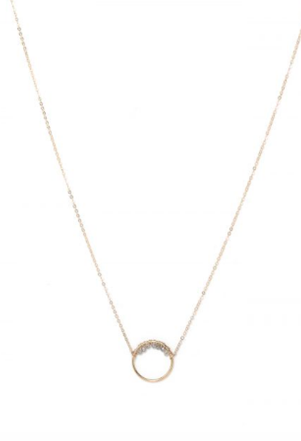 Clear Celine Labra Necklace