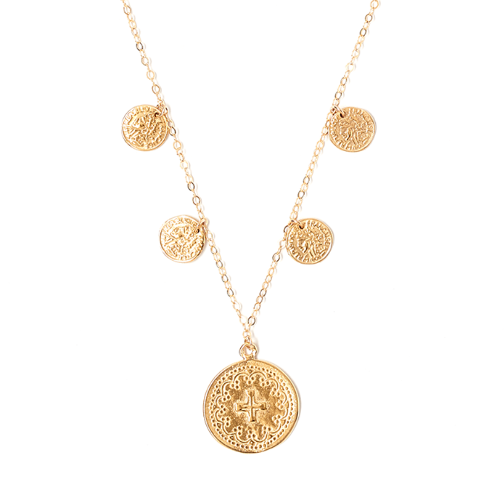 Simplicity Cascade Coin Necklace