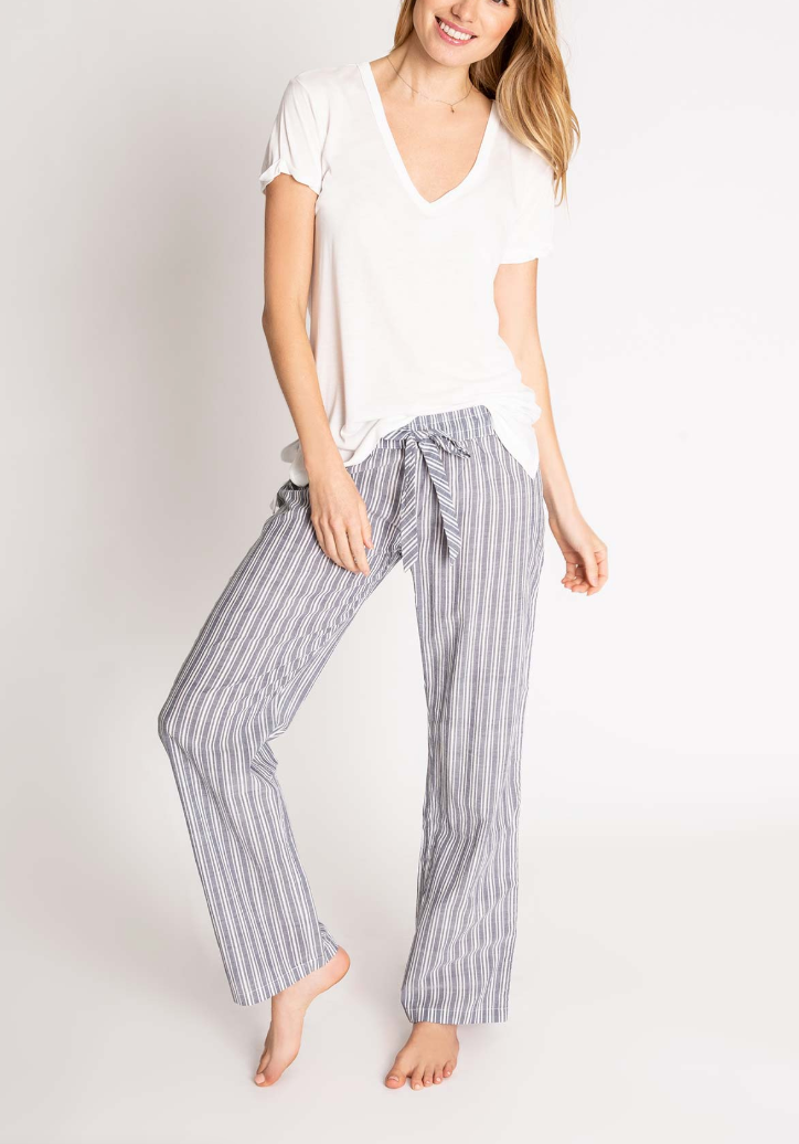 PJ Salvage Cotton Voile Striped Pant