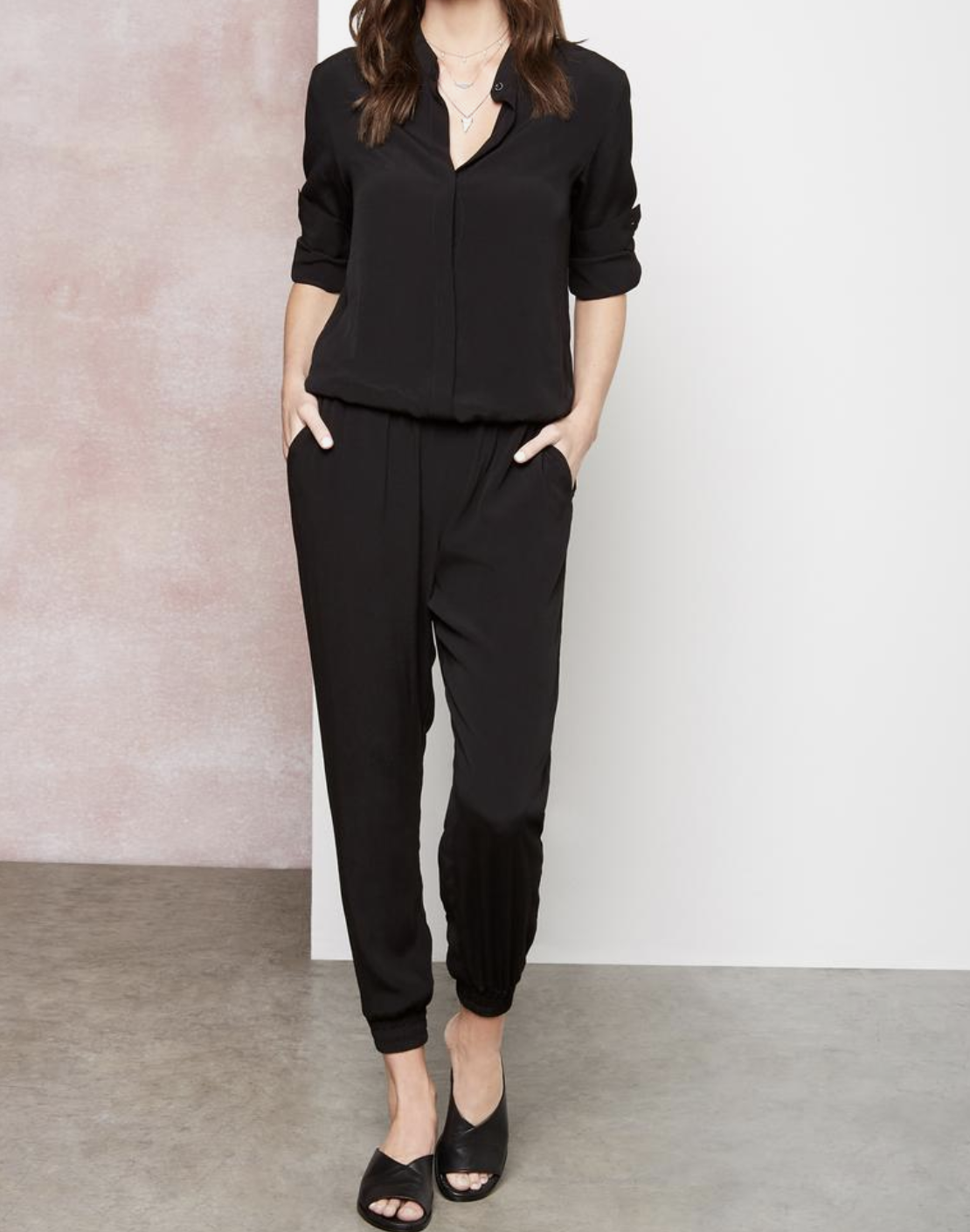 Button Front Jumpsuit
