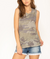 Camo Tank w/ Braid Detail