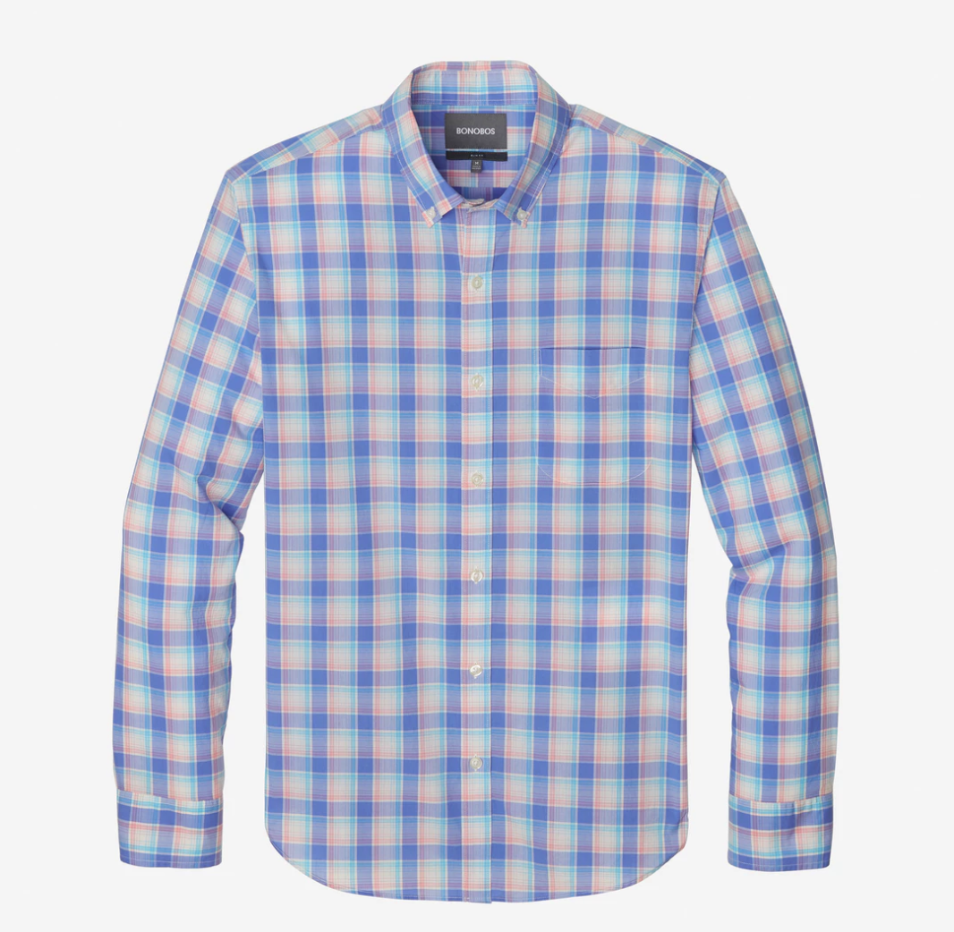 Bonobos Blue Plaid Button Down