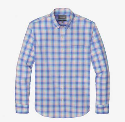 Bonobos Blue Plaid Button Down - RUST & Co.