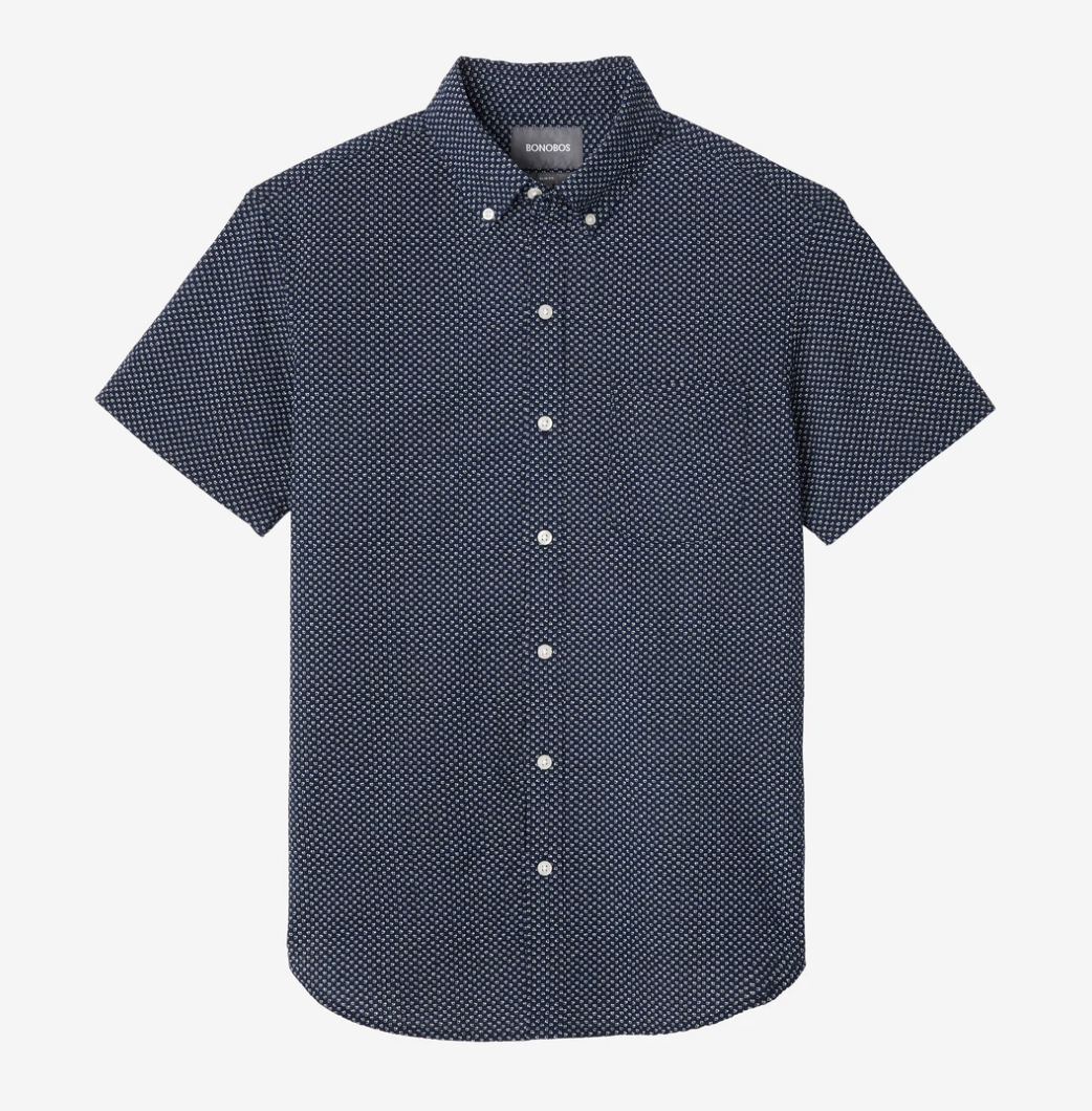 Bonobos Short Sleeve Riviera Shirt, Print - RUST & Co.