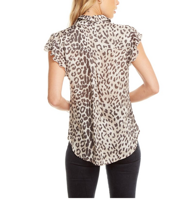 Chaser Animal Flutter Sleeve Top - RUST & Co.