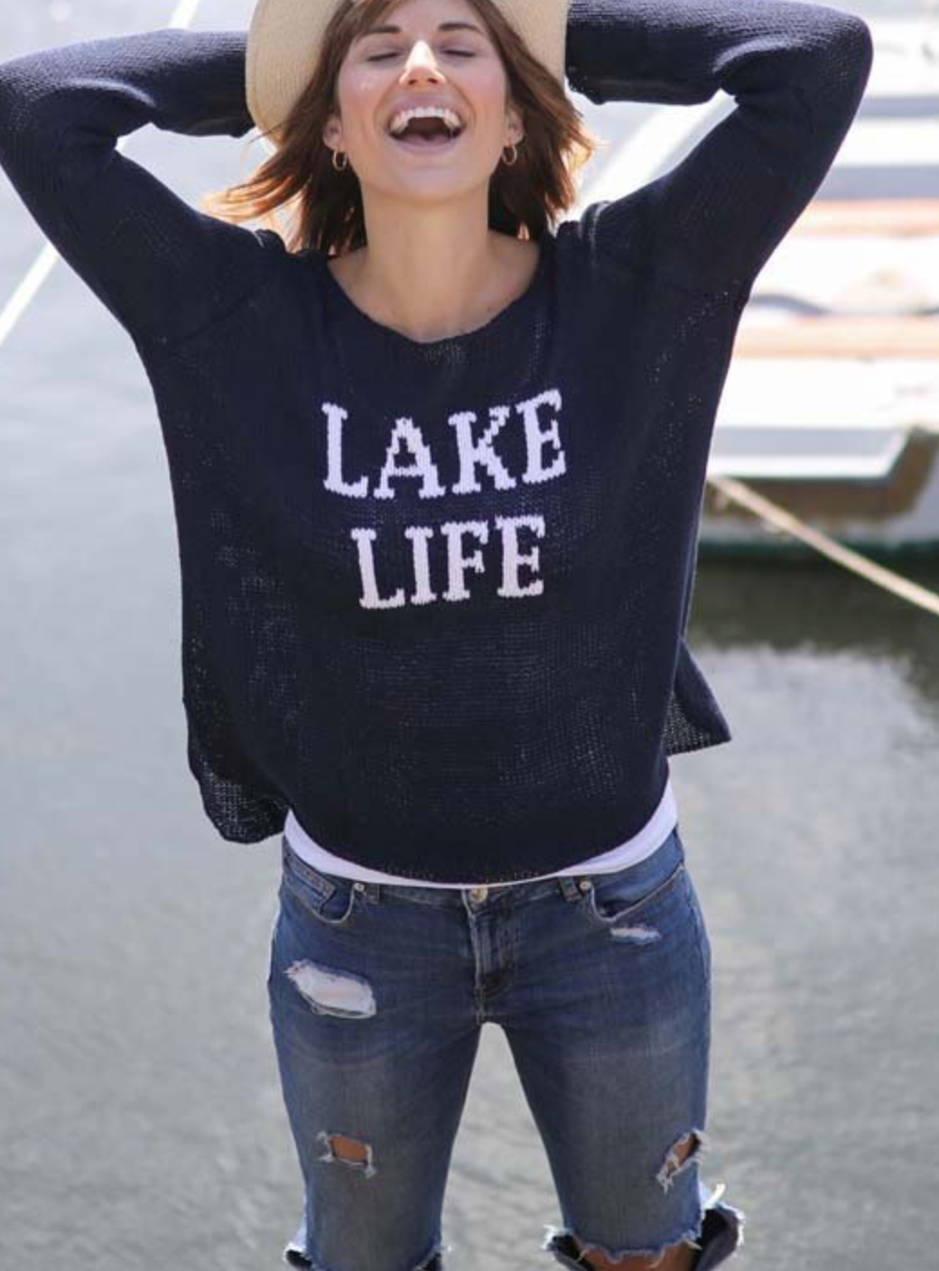 Lake Life Crew Neck Sweater