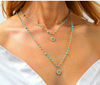 Serendipity Gold/Turquoise Double Layer Necklace