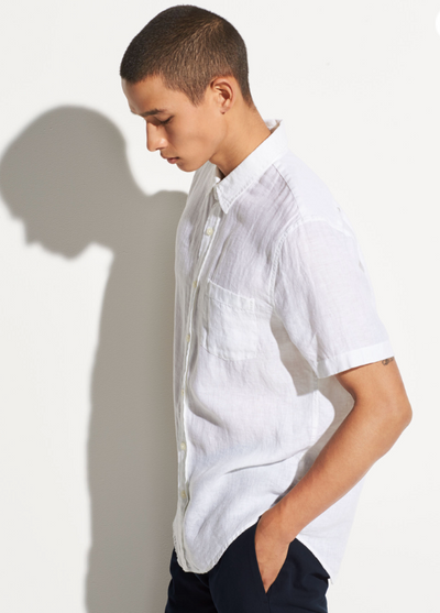 Vince Linen Short Sleeve Shirt