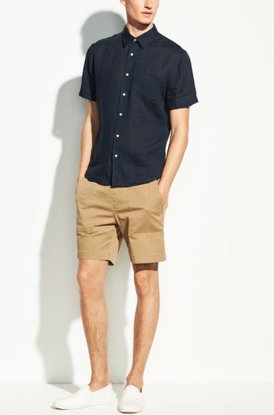 Vince Linen Short Sleeve Shirt - RUST & Co.