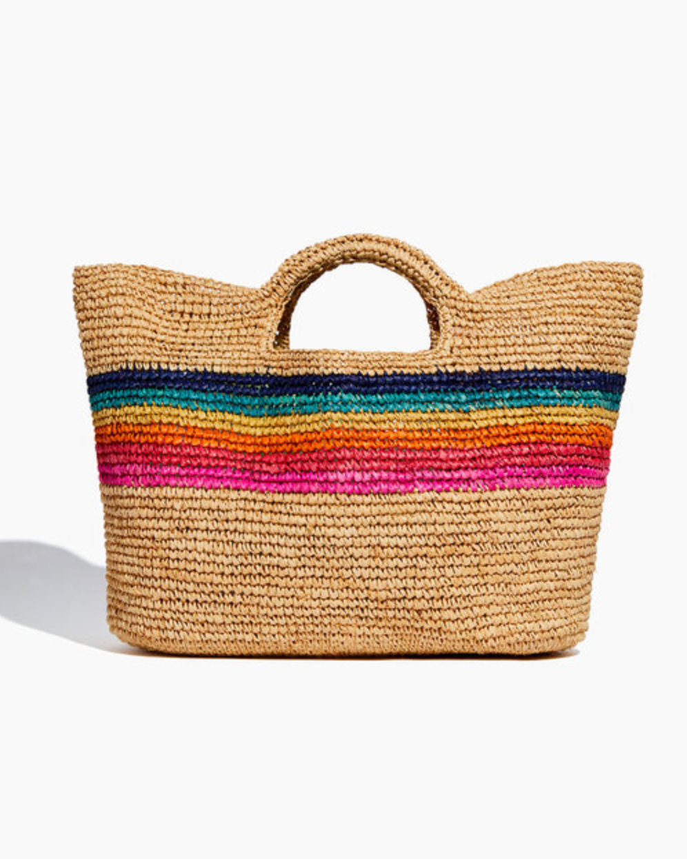 Sundry Rainbow Stripe Bucket Bag