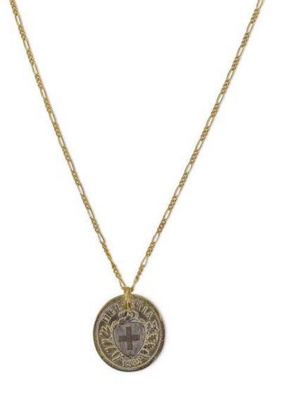 "Coat Of Arms Coin Necklace 17"" - RUST & Co."