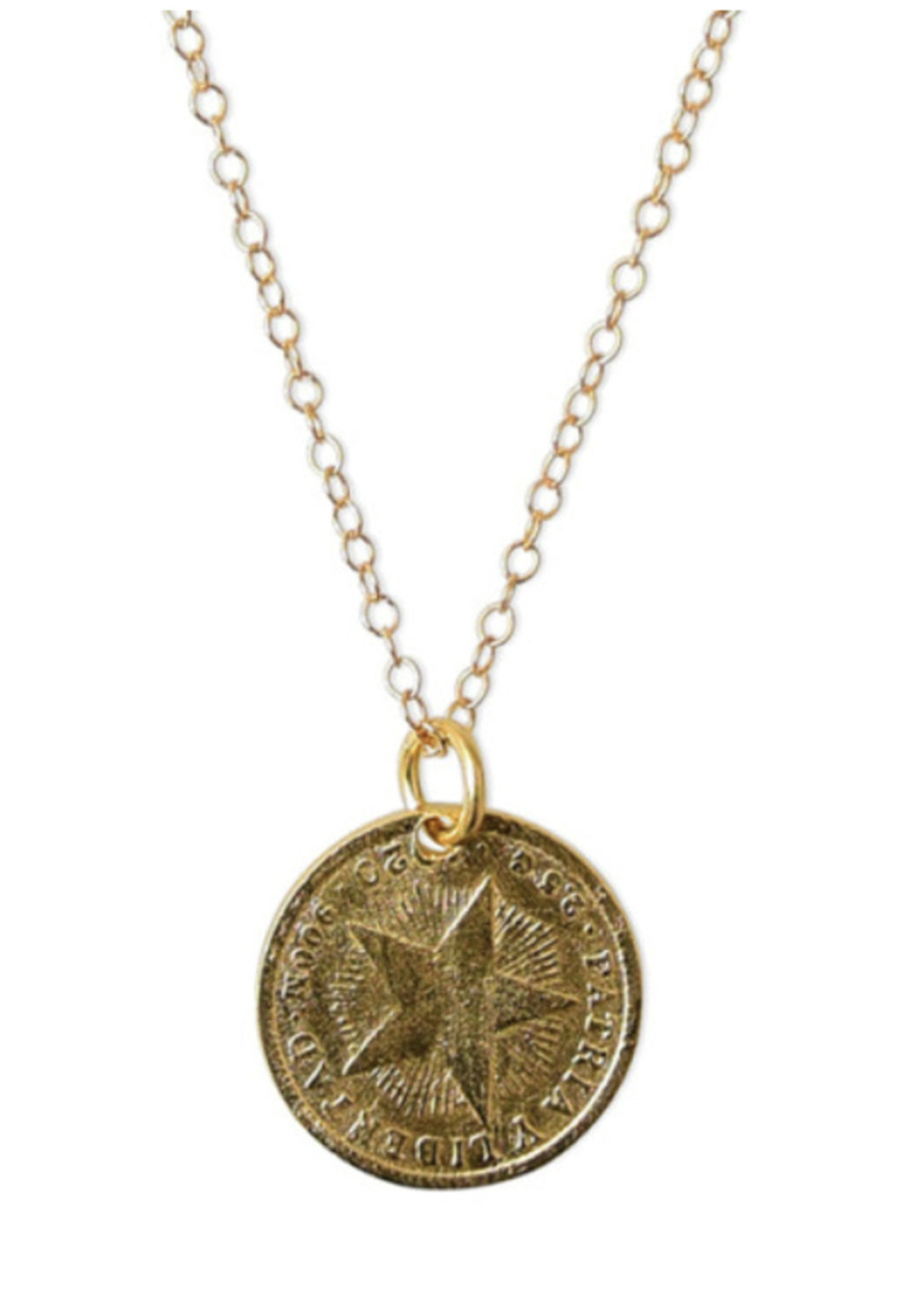 Star Coin Necklace 18""