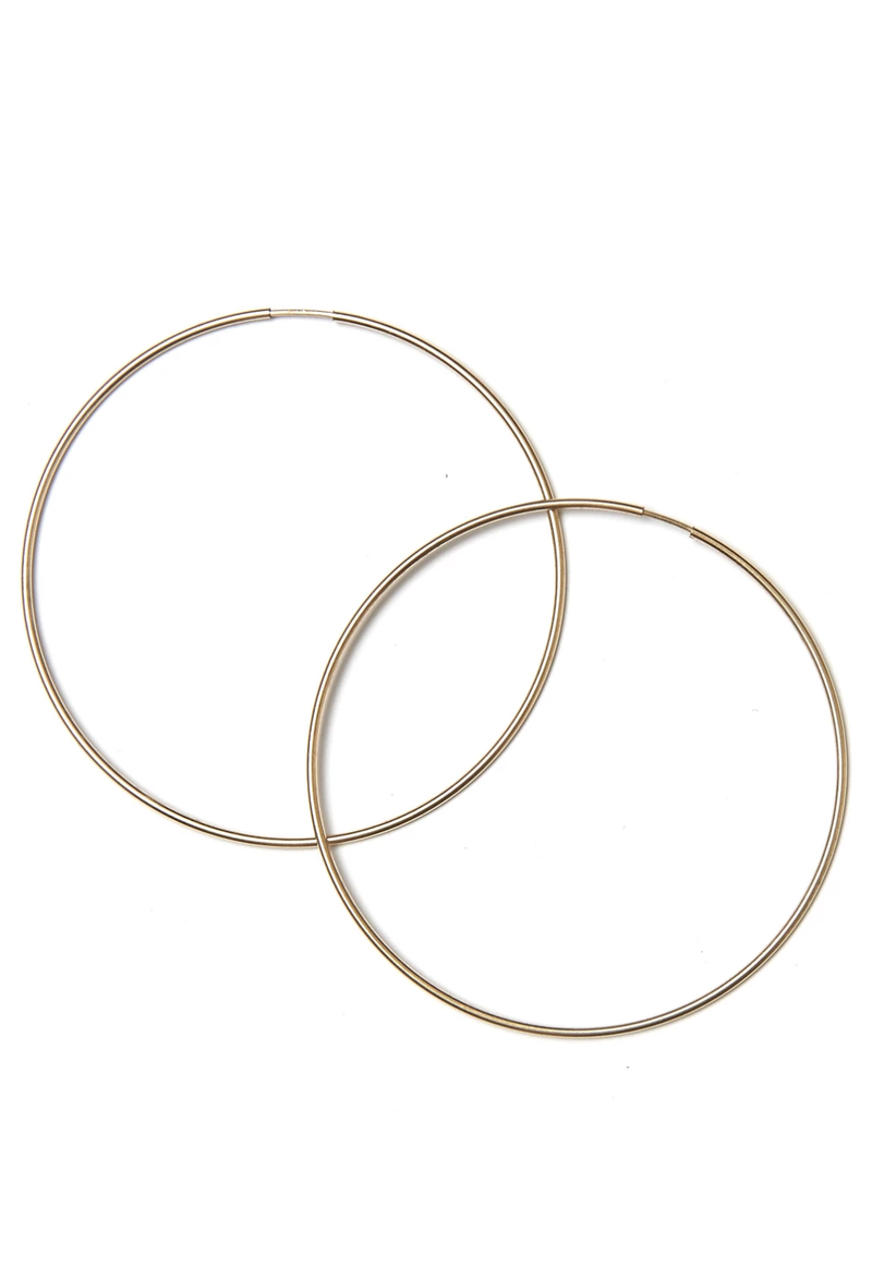Belle Gold Hoop Earrings