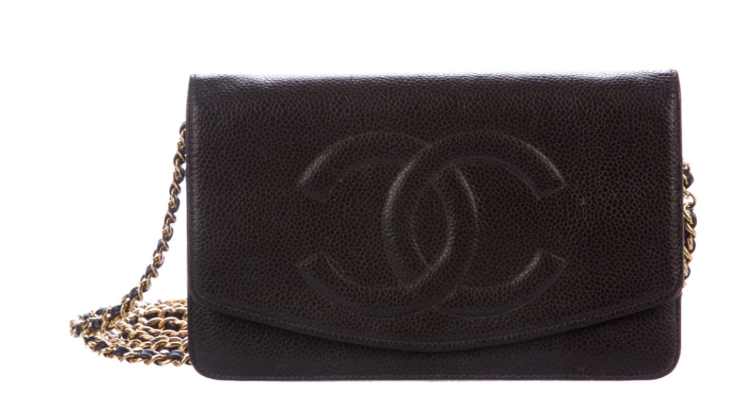 Chanel Black Caviar Wallet on Chain (WOC) Bag