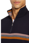 Ted Baker Allova Striped 1/4 Zip Pullover - RUST & Co.