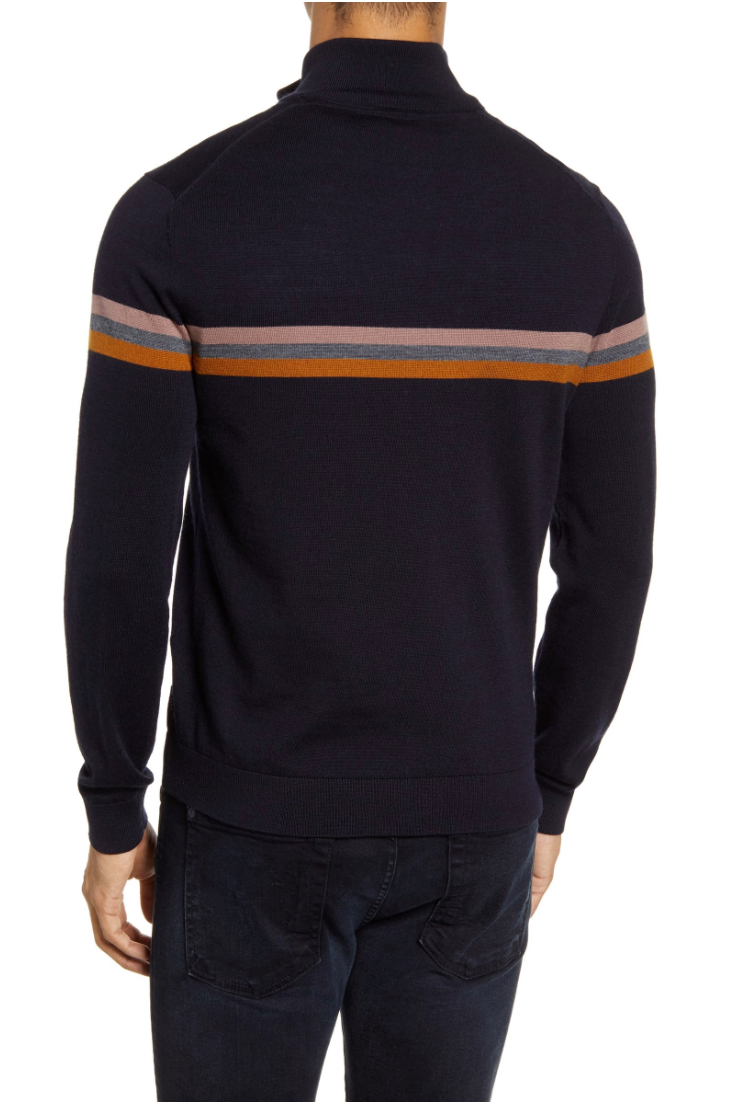 Ted Baker Allova Striped 1/4 Zip Pullover