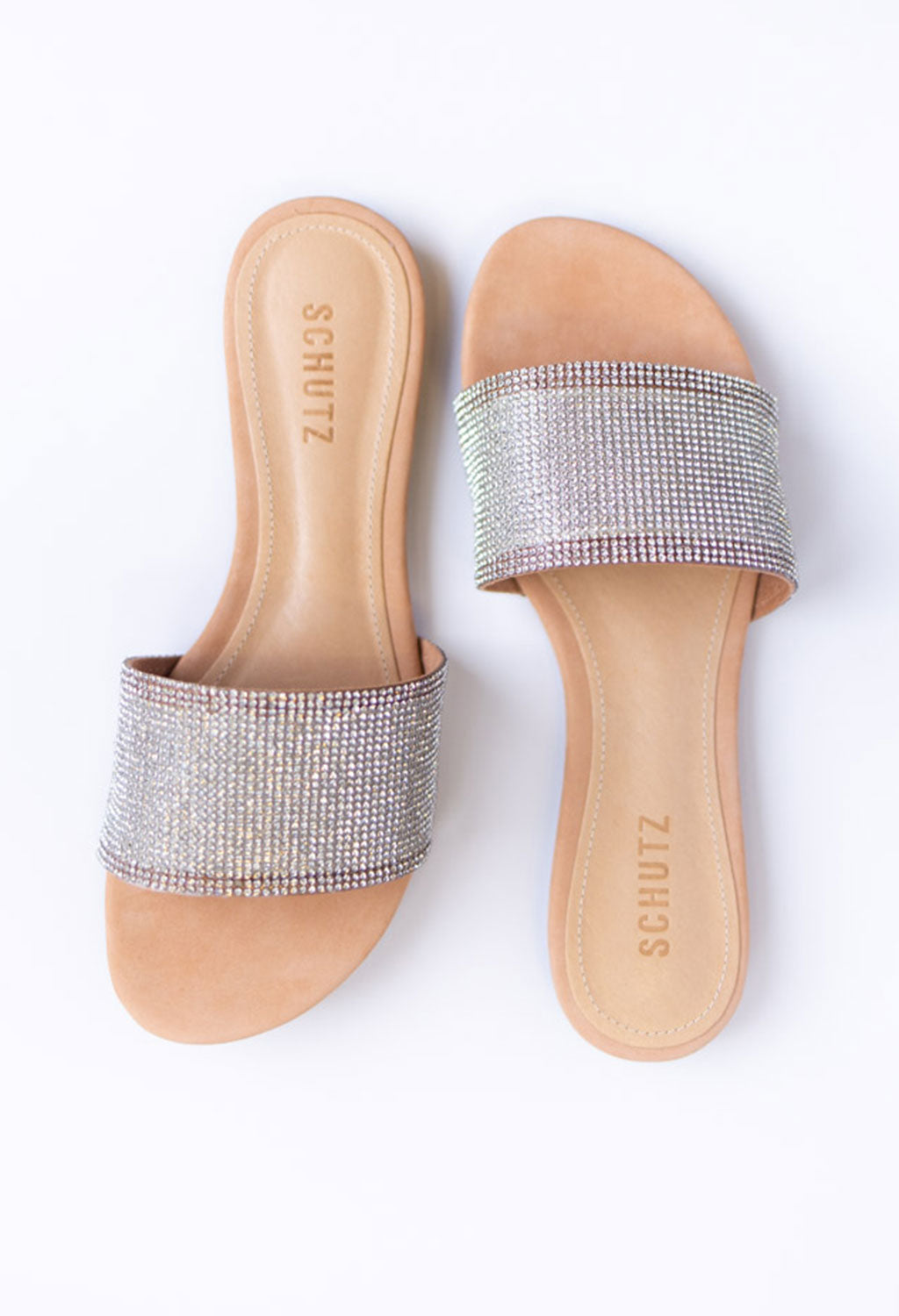 Schutz Queren Crystal-Embellished Slide - RUST & Co.