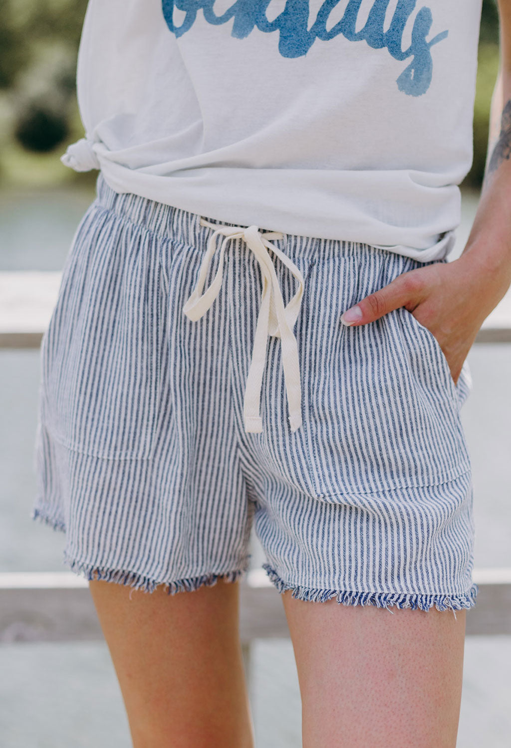 Penelope Raw-edge Shorts