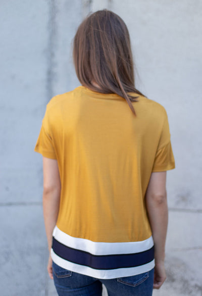 Scotch & Soda Tee w/ Rib Hem T-Shirt - RUST & Co.