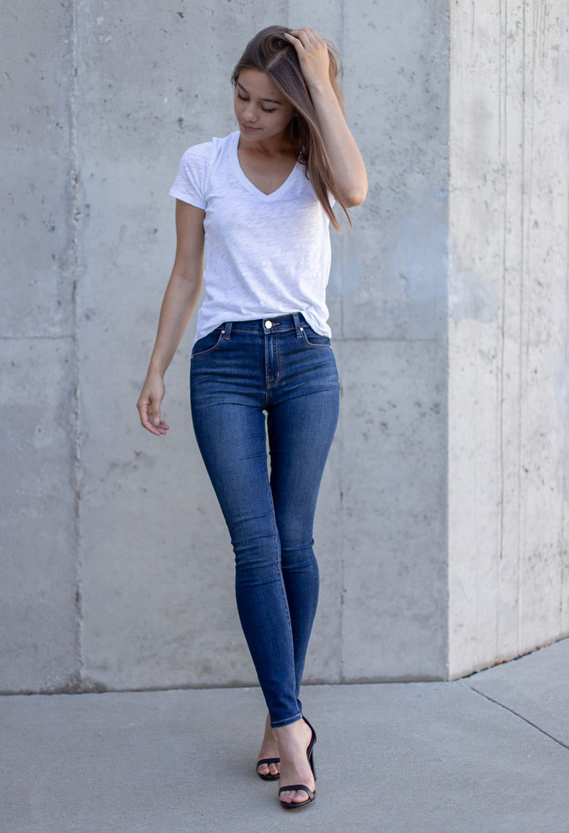 J Brand Maria High Rise Skinny Denim