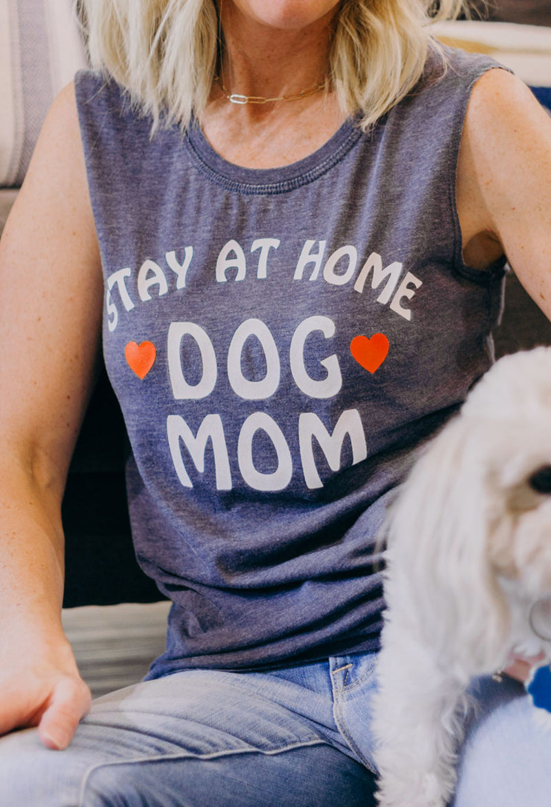 Stay at Home Dog Mom Muscle T
