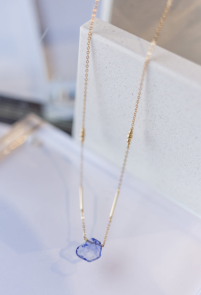 "Fiona Sapphire Necklace 16""-18"""