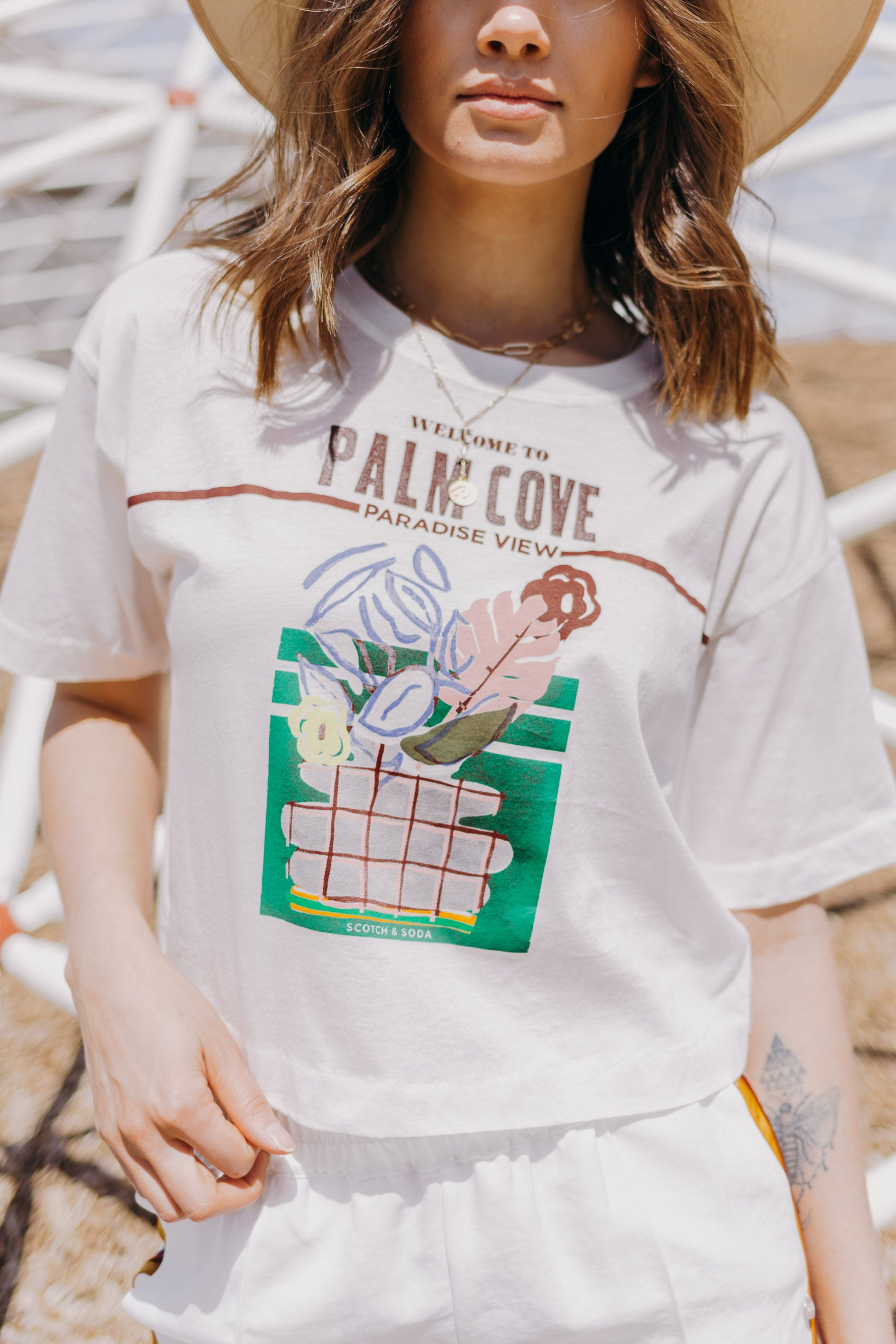 Scotch & Soda Oversized 'Palm Cove' T-shirt