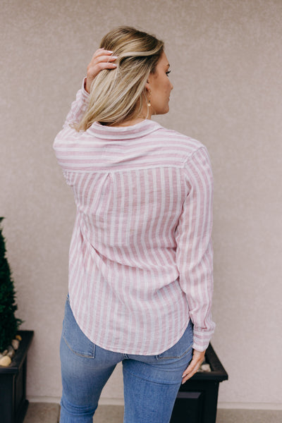 Rails Charli Dobby Stripe Button Front Shirt