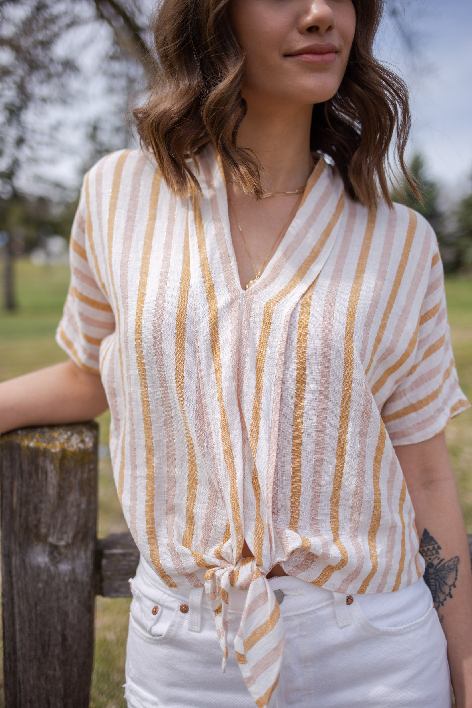 Rails June Tie Front Top - RUST & Co.