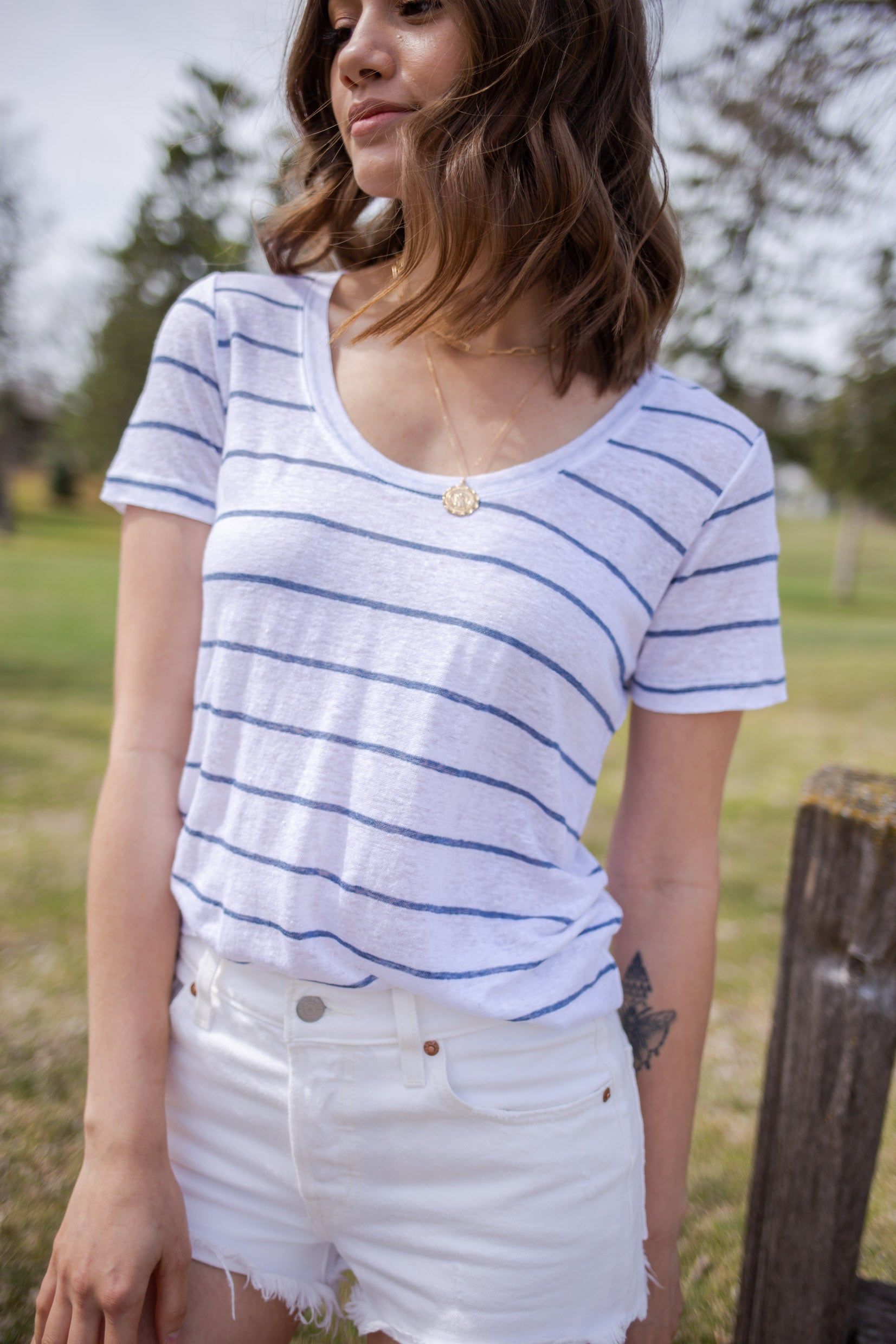 Rails Luna Tee, Stripe