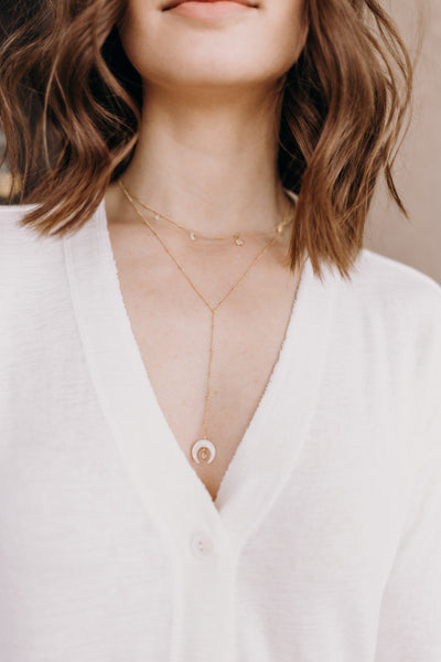 Basi Moonstone Necklace - RUST & Co.