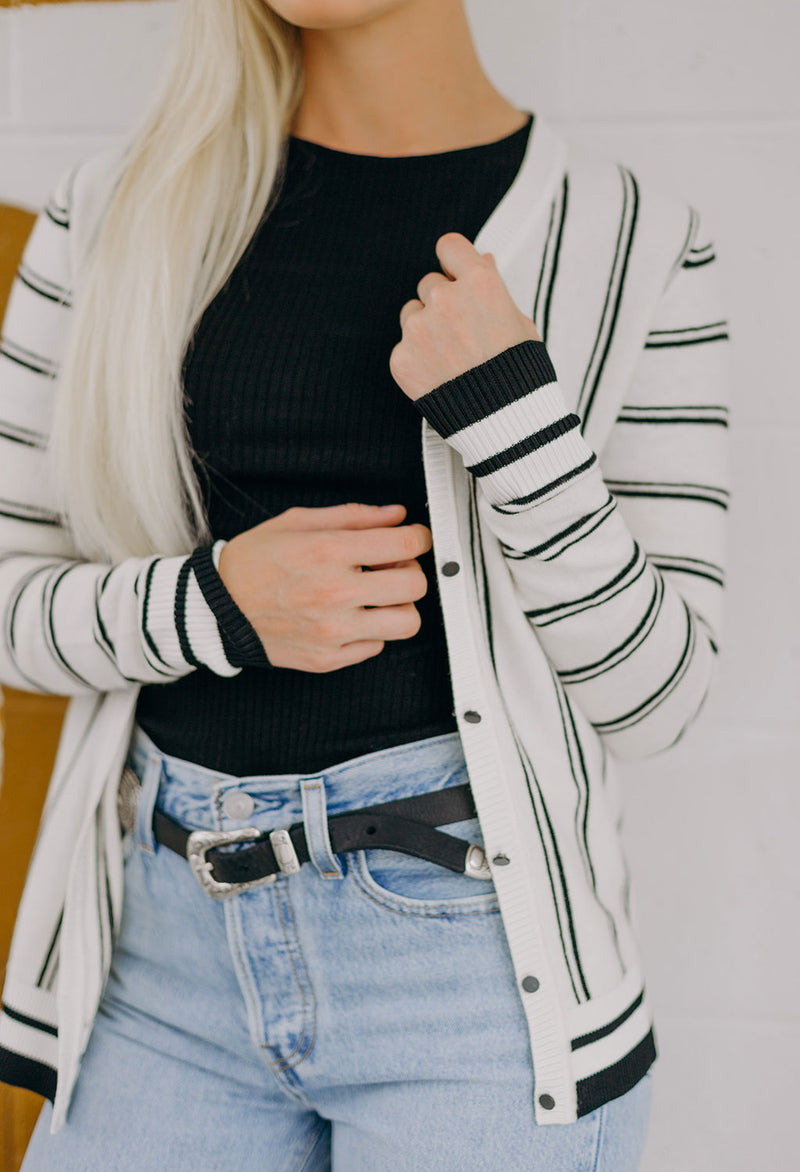 Scotch & Soda Striped V-Neck Cardigan