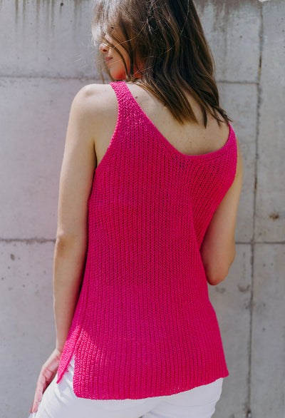 Linsay Double V-Neck Tank Sweater