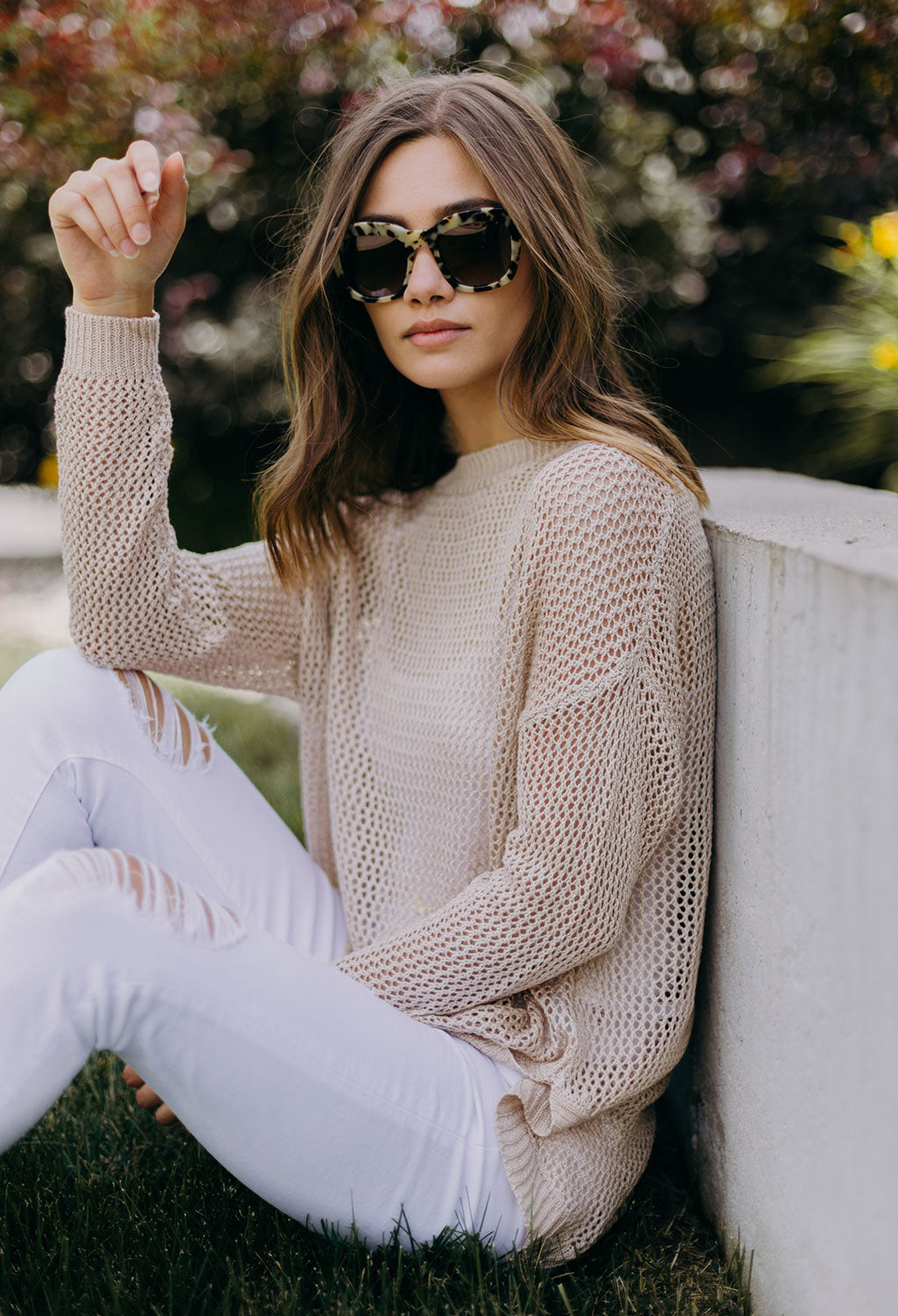 Rebecca Open Knit Sweater