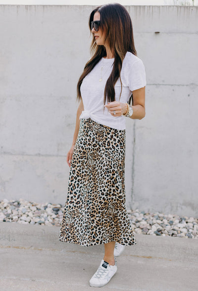Leopard Midi Skirt - RUST & Co.