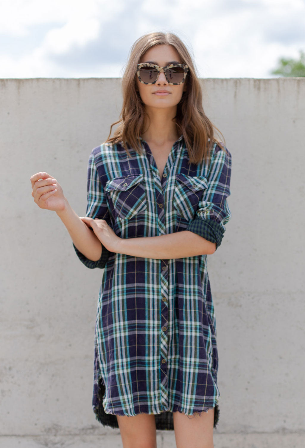 Heather Plaid Dress