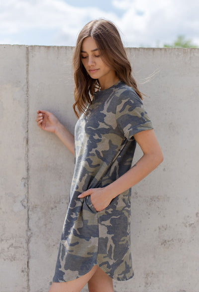 Camo Terry Dress - RUST & Co.