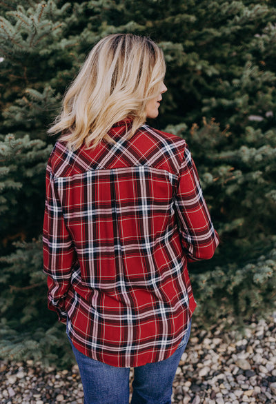 Rails Hunter Crimson Navy Plaid - RUST & Co.