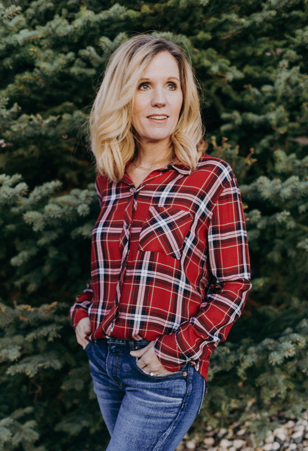 Rails Hunter Crimson Navy Plaid