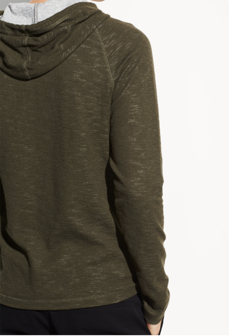 Vince Double Knit Pullover Hoodie - RUST & Co.